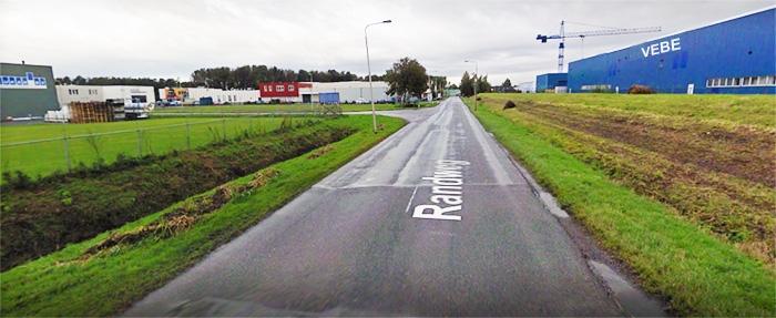 Op de randweg afslaan bij VEBE naar Laminaat All-In in Hasselt
