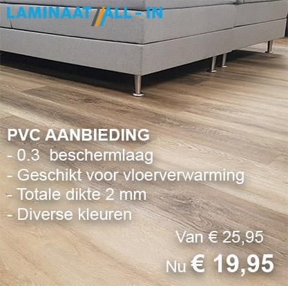 PVC vloer aanbieding