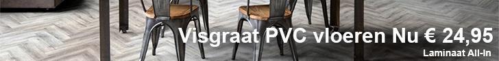 PVC vloeren visgraat aanbieding