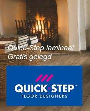 Quick-Step laminaat aanbieding inclusief gratis leggen.