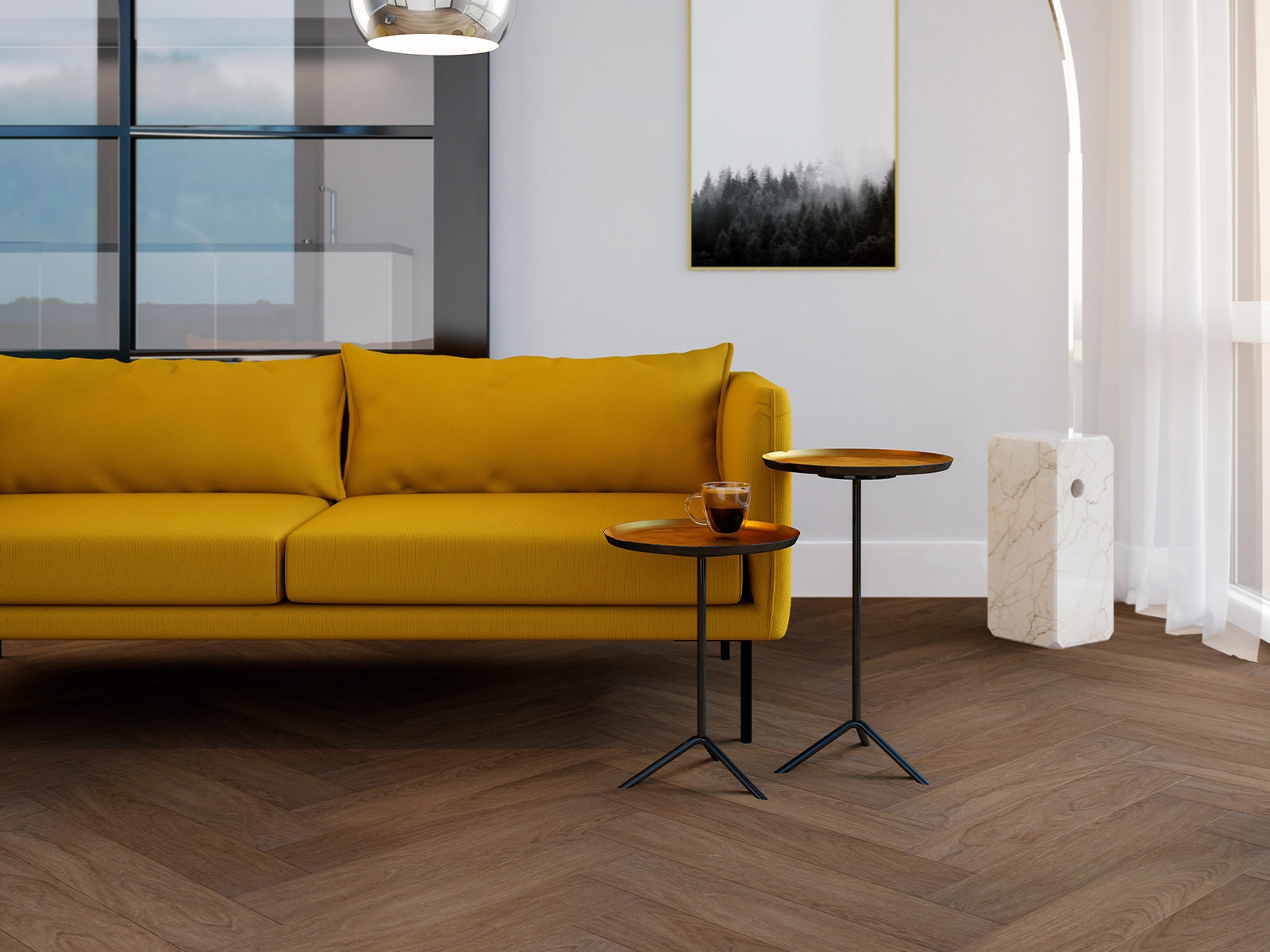 4 nieuwe kleuren Visgraat pvc van Vivafloors