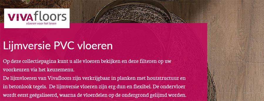 Vivafloors Verlijmd PVC